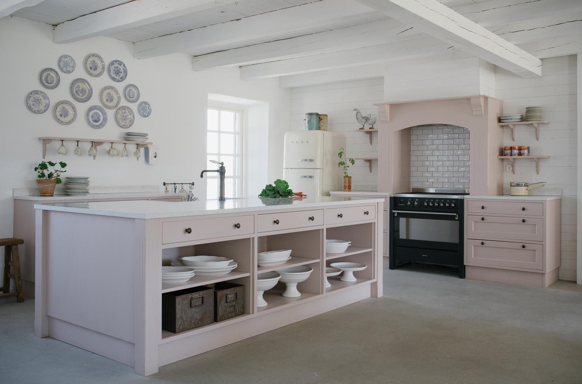 ett rosa kök, visby kök, kök gotland