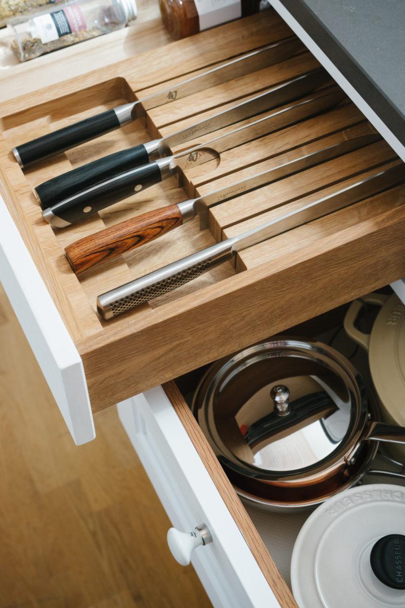 kökslåda, förvaring, besticklåda, kök från Gotland, kök visby, handgjorda kök, köksrenovering